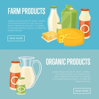 Farms en biologische producten website templates
