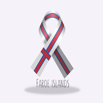 Faroe-eilanden vlag lint ontwerp