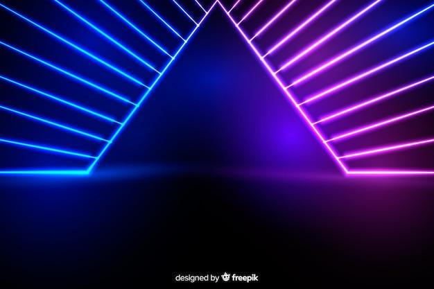 Fase achtergrond met neonlichten