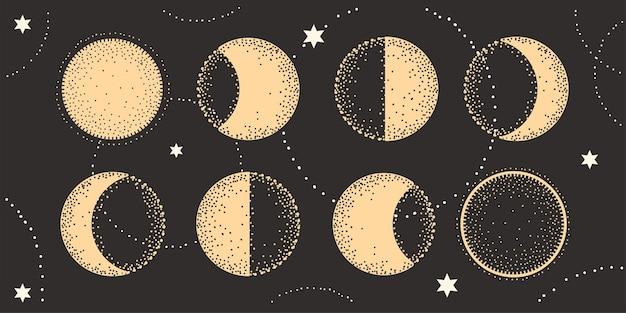 Fasen van de astrologie van de maan