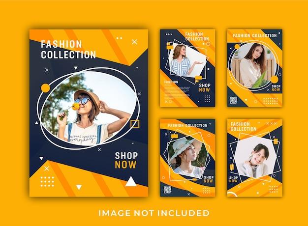 Fashion flyer ontwerpconcept