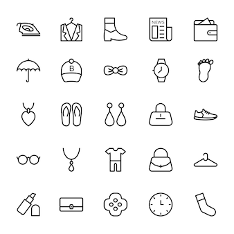 Fashion line pictogrammen