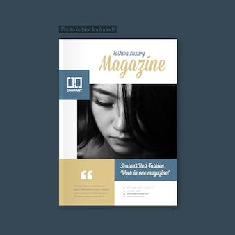 Fashion lookbook brochure & magazine cover design
