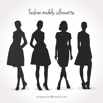 Fashion modellen silhouet pak