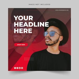 Fashion sale banner of vierkante flyer voor social media post