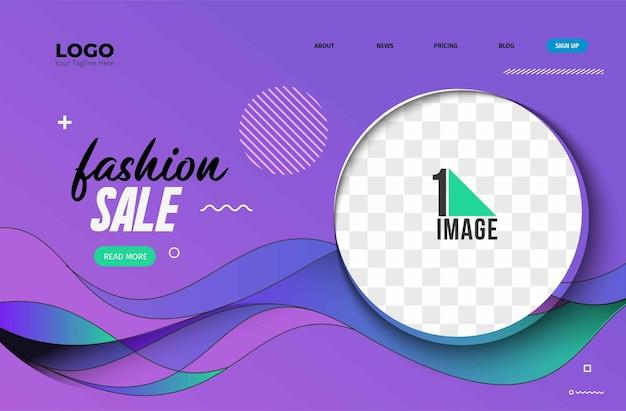 Fashion sale banner-ontwerp met ruimte voor uw foto. vector illustratie.