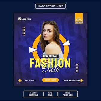 Fashion sale banner social media post instagram facebook-sjabloon