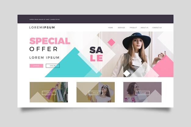 Fashion sale - bestemmingspagina