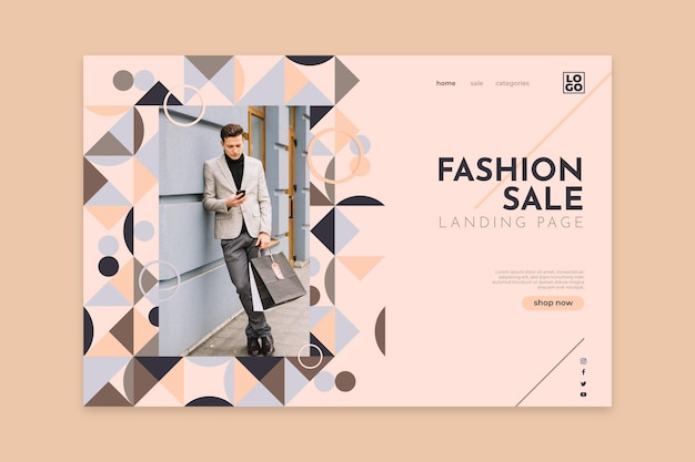 Fashion sale - bestemmingspagina