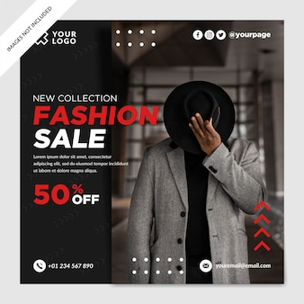 Fashion sale discount social media post