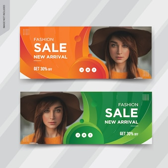 Fashion sale facebook cover post ontwerp