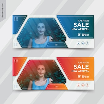 Fashion sale facebook cover social media post