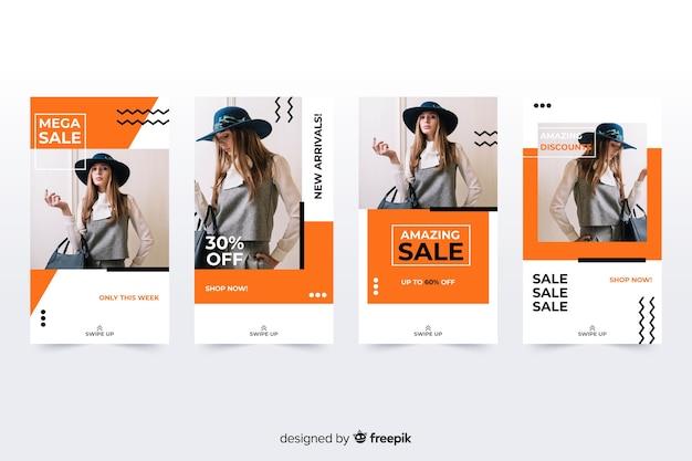 Fashion verkoop instagram verhalen met foto