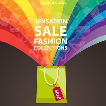 Fashion verkoop regenboog ontwerp