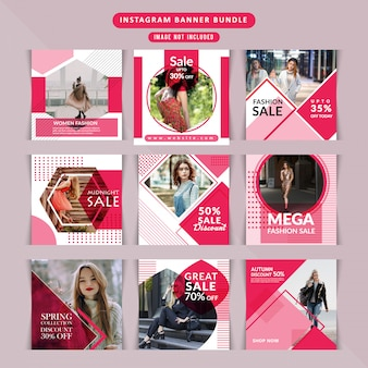 Fashion webbanner voor sociale media