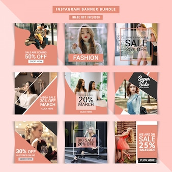 Fashion webbanner voor sociale media