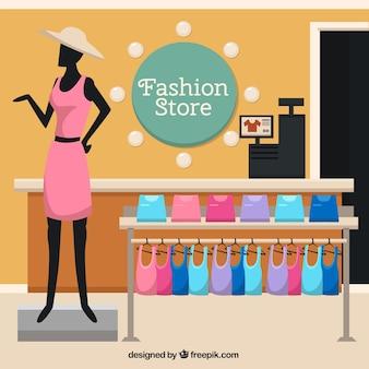 Fashion winkel met een mannequin
