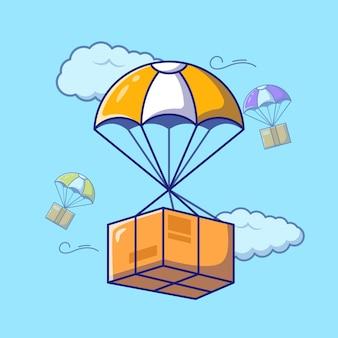 Fast air logistics delivery service-pakket met parachute
