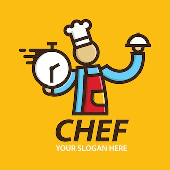 Fast chef logo levering ontwerpen sjabloon
