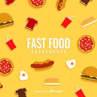 Fast-food achtergrond
