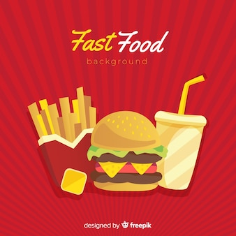 Fast-food achtergrond