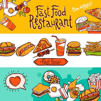 Fast food banners