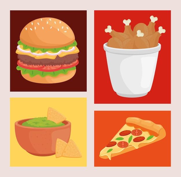 Fast food collectie illustratie