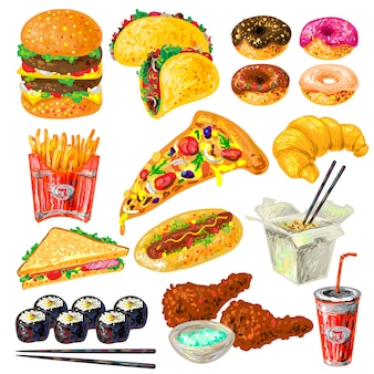 Fast-food elementen instellen