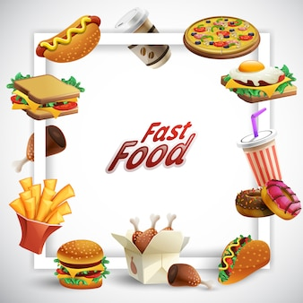 Fast food frame