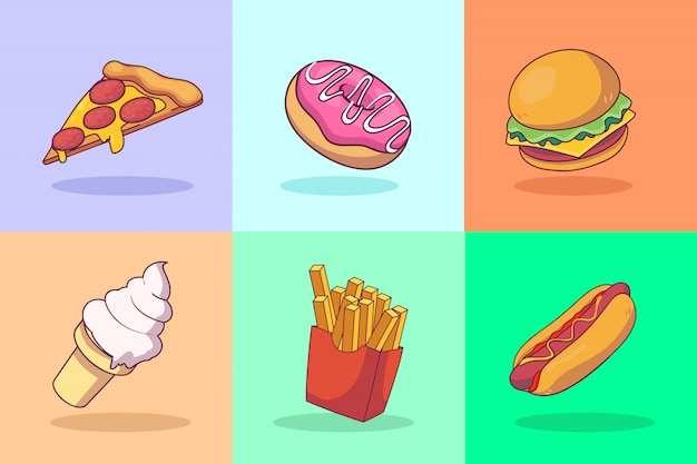 Fast-food illustratie concept