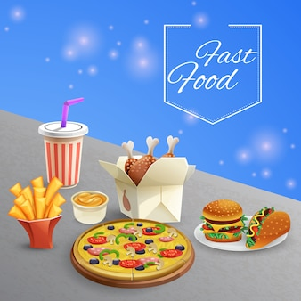 Fast food illustratie
