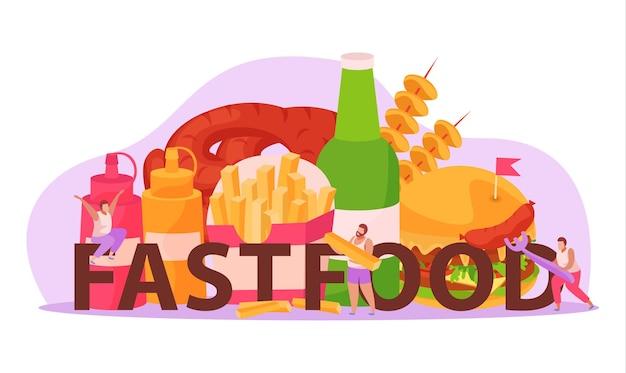 Fast food illustratie