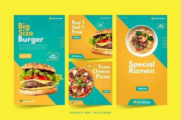 Fast food instagram-sjabloon voor sociale media