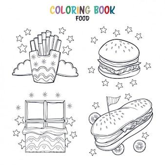 Fast food kleuring ontwerp
