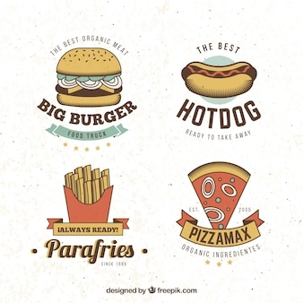 Fast food logo collectie
