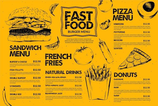 Fast-food menusjabloon