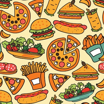 Fast food naadloze achtergrond