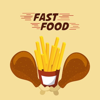 Fast food restaurant menu brochure