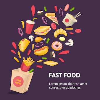 Fast food samenstelling