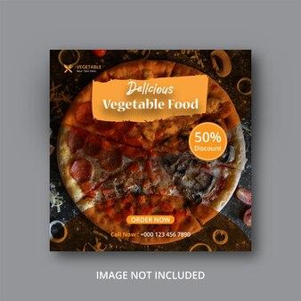 Fast food social media post eps Premium Vector