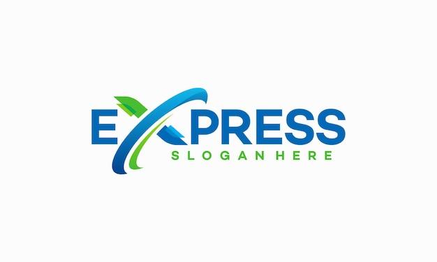 Fast forward express-logo ontwerpt vector, modern express-logosjabloon
