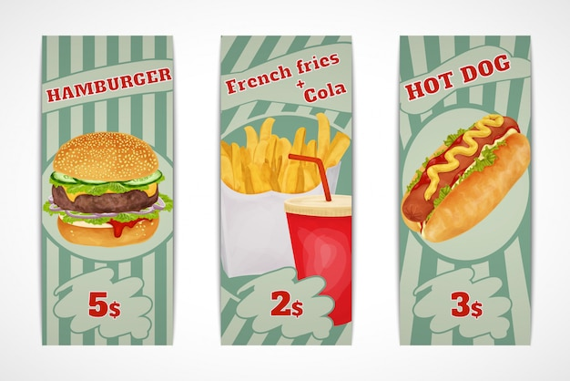 Fastfood-banners
