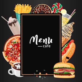 Fastfood cafe-menu.