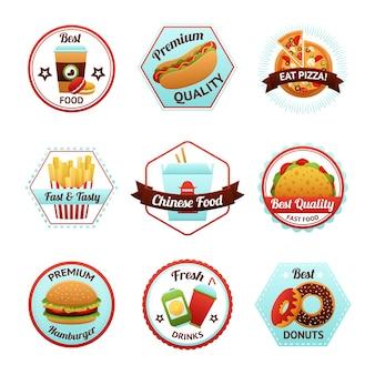 Fastfood-emblemen