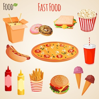Fastfood ingesteld