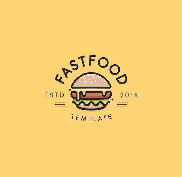 Fastfood logo sjabloon.