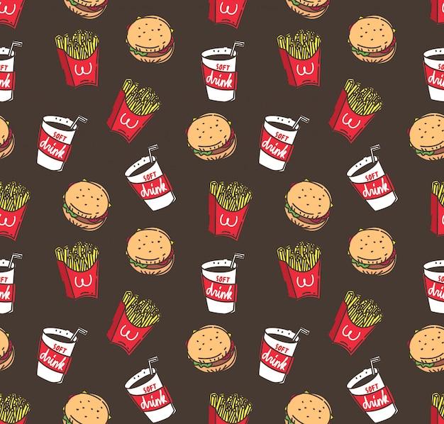 Fastfood naadloze achtergrond