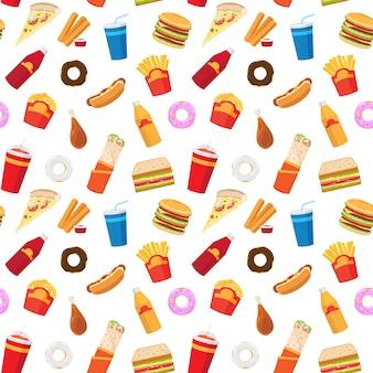 Fastfood naadloze patroon