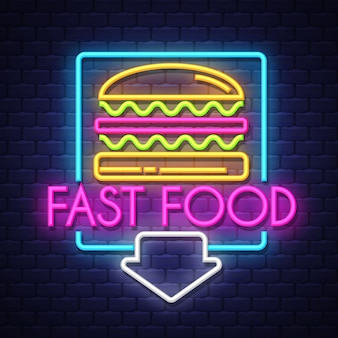 Fastfood-neonreclame