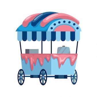 Fastfood op straat. verkoop ijswagen